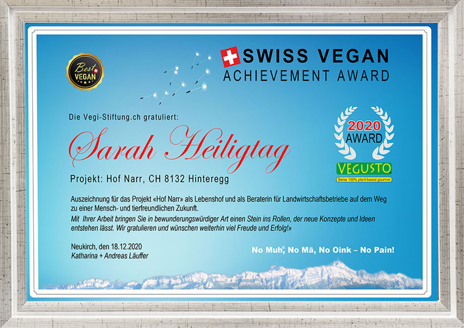 Swiss Vegan Achievement Awards